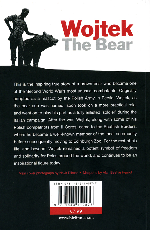 Wojtek The Bear Aileen Orr Birlinn 2012 backcover