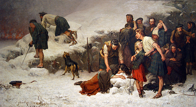 The Massacre of Glencoe James Hamilton 1883-1886 Kelvingrove Art Gallery & Museum