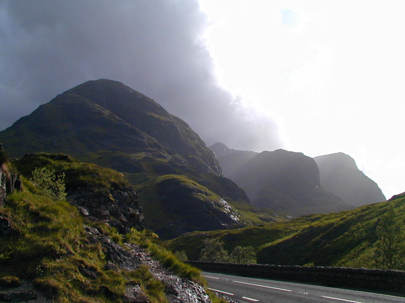 Highlands of Scotland Glen Coe mountains A 82 road © 2012 Scotiana