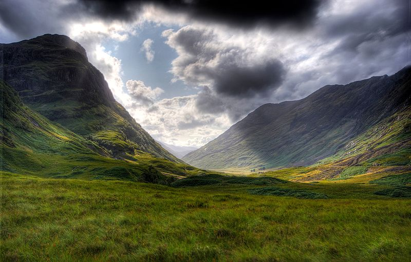 Glencoe Valley near the village of Glencoe -  Gil Cavalcanti - August 2009 -Source Wikipedia