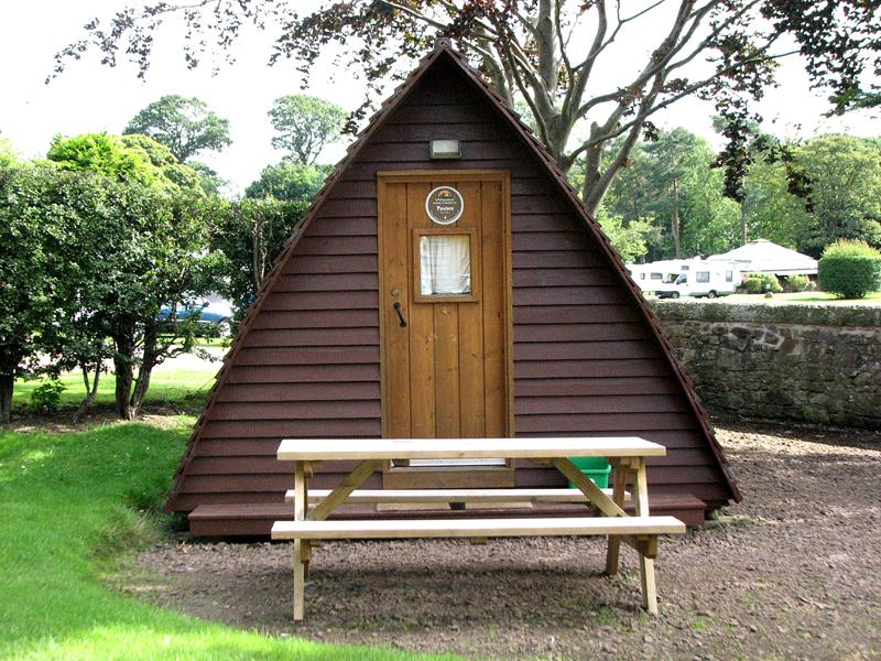 Wigwam - Mortonhall Caravan & Camping Site - Edinburgh © 2012 Scotiana