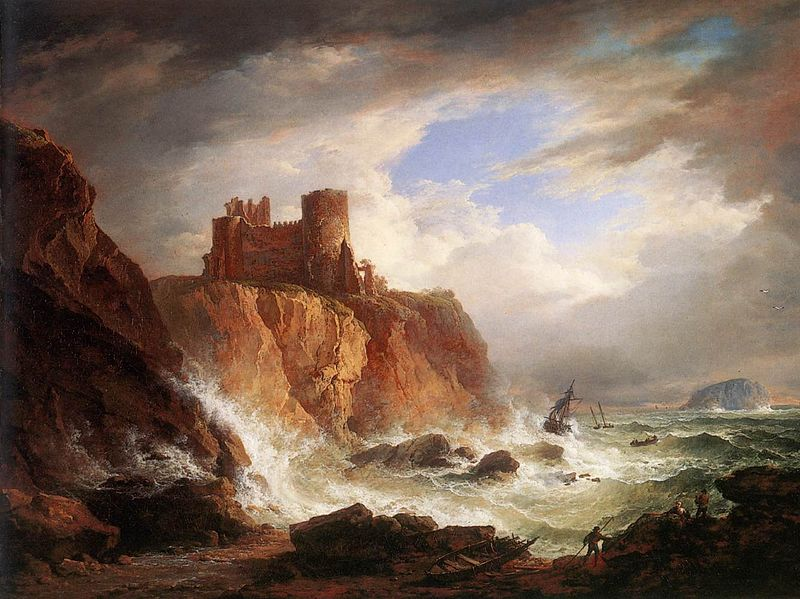 A View of Tantallon Castle circa 1816 Alexander Nasmyth