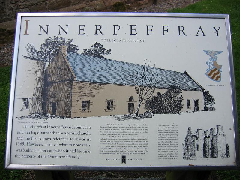 Old Collegiate Chapel information panel © 2007 Scotiana