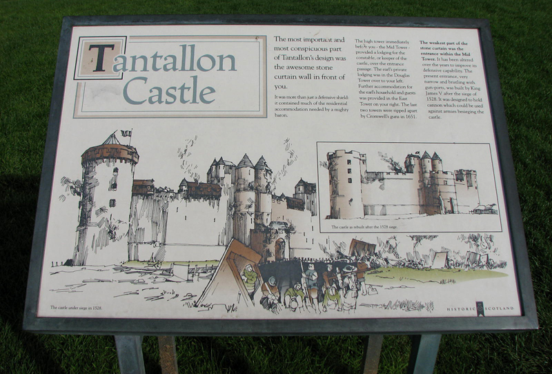 Tantallon Castle illustrated panel