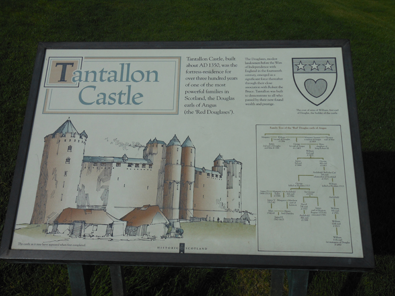Tantallon Castle information panel