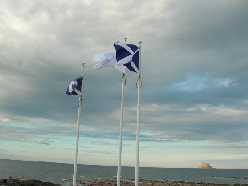 North Berwick Scottish flags
