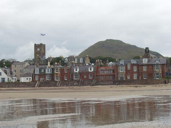 North Berwick beach with Law Hill in the background
