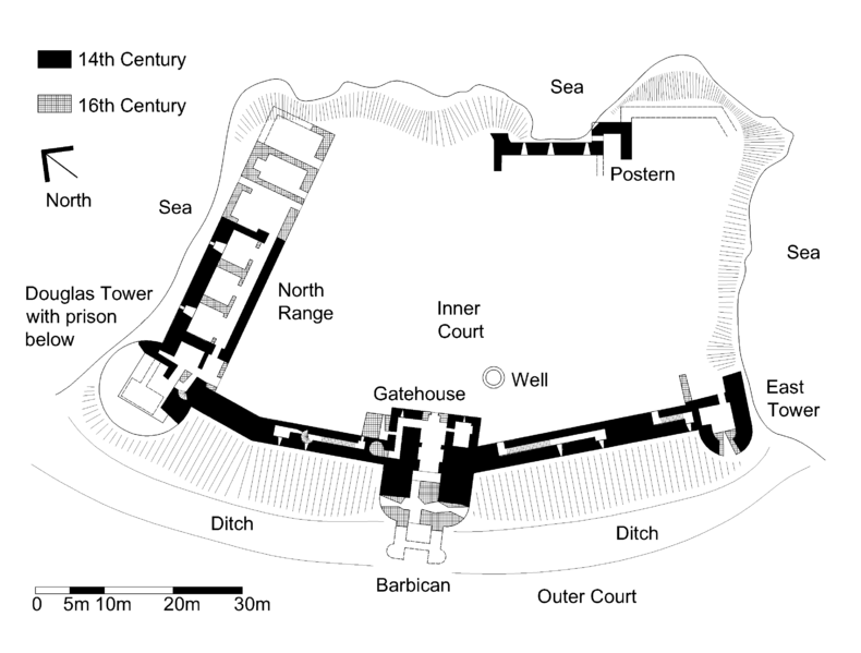 Tantallon Castle Plan Wikipedia