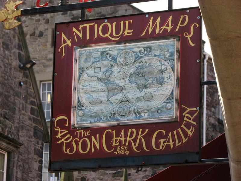 Edinburgh Antique Maps The Carson Clark Gallery 181-183 Canongate © 2012 Scotiana