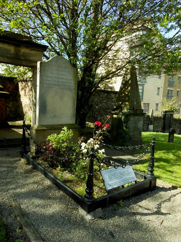 Canongate kirkyard Robert Fergusson's grave © 2012 Scotiana
