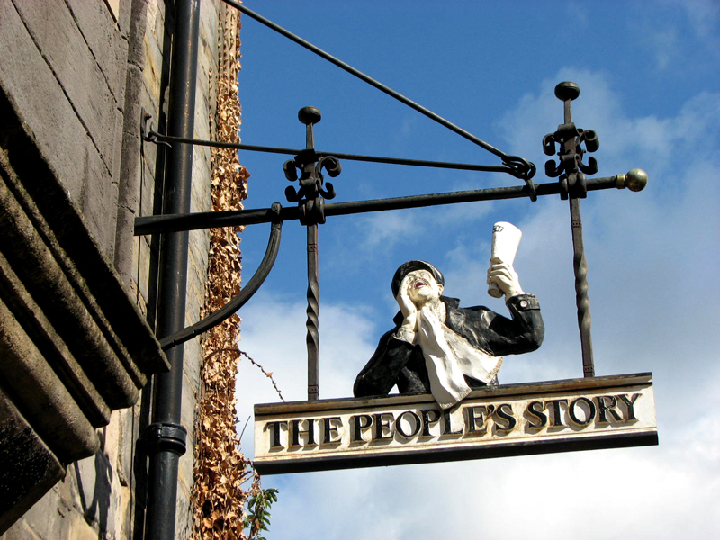 The People's Story sign Canongate © 2012 Scotiana