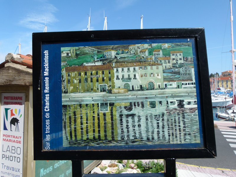 Port-Vendres reproduction panel of Mackintosh's painting 'Quai des douanes' © 2012 Scotiana