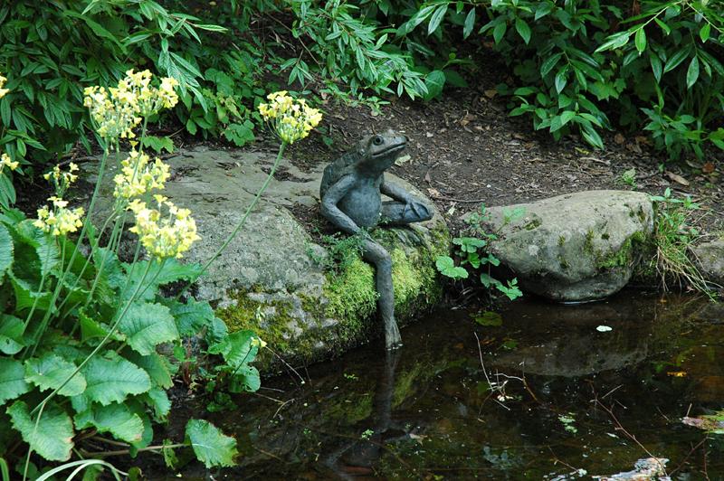 Beatrix Potter Garden in Dunkeld Jeremy Fisher Statue © 2007 Scotiana