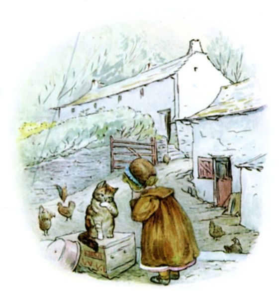 Beatrix Potter's illustration of Little-Town farm in 'Mrs Tiggy-Winkle'