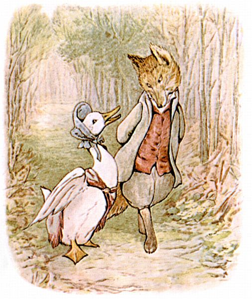 Beatrix Potter's illustration for 'Jemina Puddle-Duck' forest lane Wikipedia