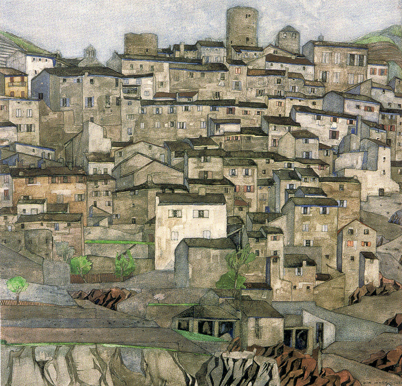 Charles Rennie Mackintosh's watercolour 'Palalda' painted in 1924