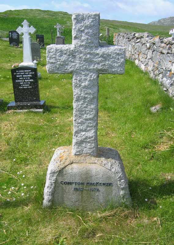 Compton Mackenzie's grave Isle of Barra Outer Hebrides © 2004 Scotiana