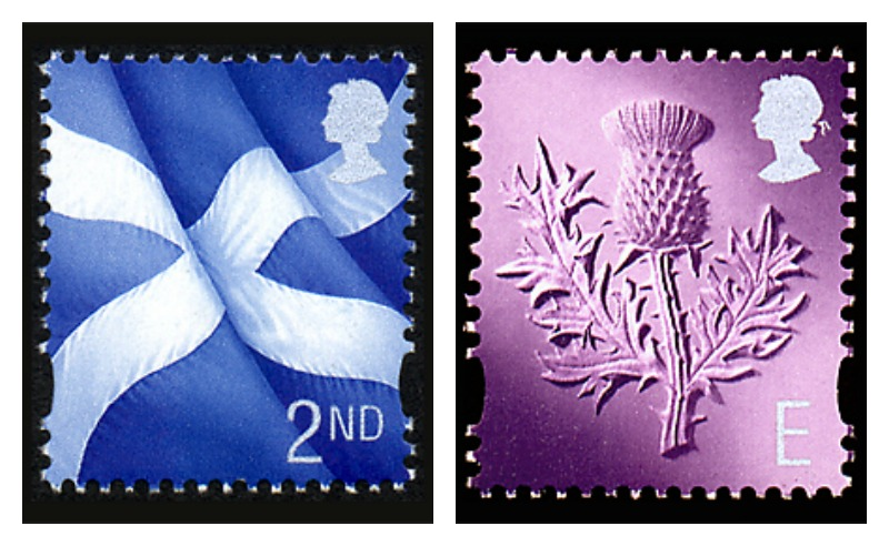GB Stamps-flag-thistle
