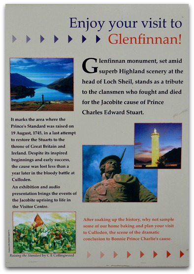 Glenfinnan Monument Information panel