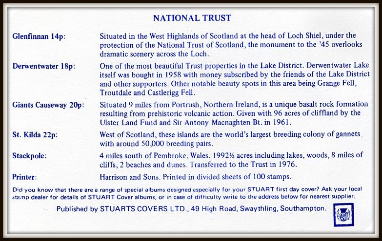 Golden Jubilee of Scottish National Trust FDC 1981 commemorative card