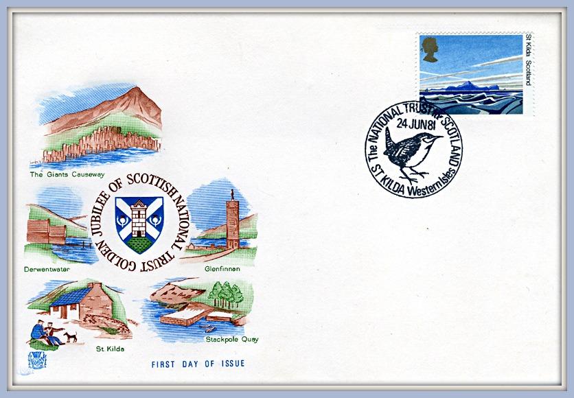Golden Jubilee of Scottish National Trust FDC 1981
