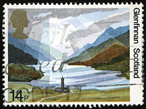 Scotland Glenfinnan postage stamp