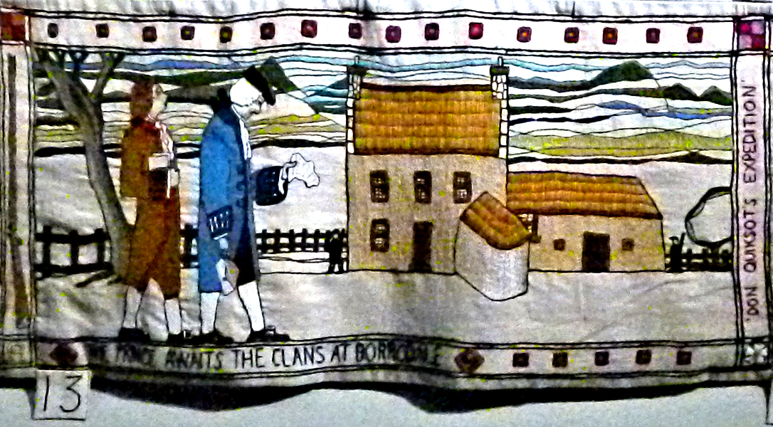 The Prestonpans Tapestry panel 13 The Prince at Borrodale © 2013 Scotiana
