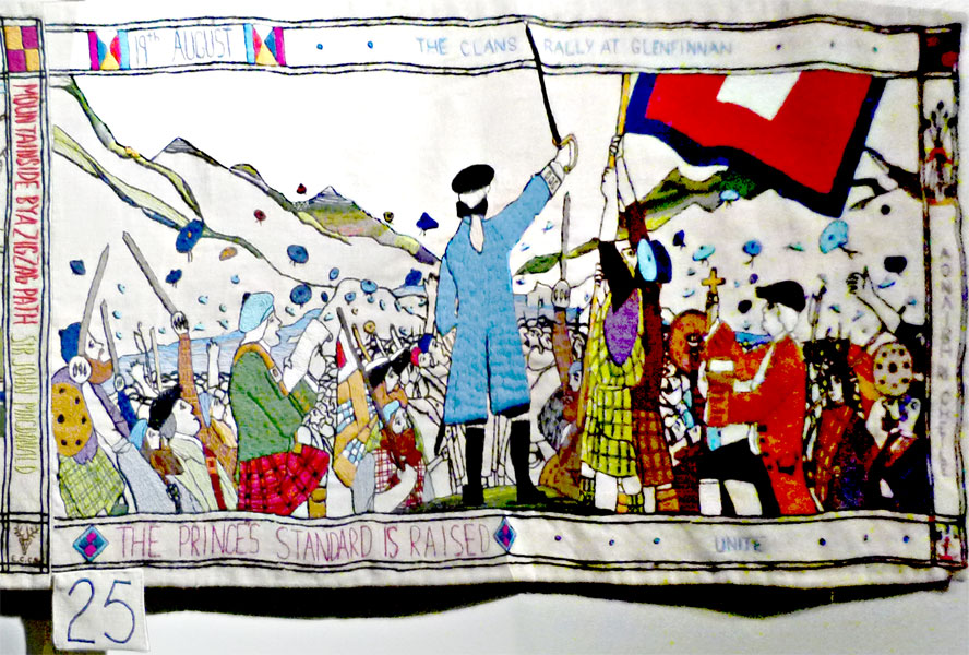 The Prestonpans Tapestry  panel 25 raising the standard © 2013 Scotiana