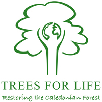 Trees For Life logo - Restoring the Caledonian Forest in Scotland -