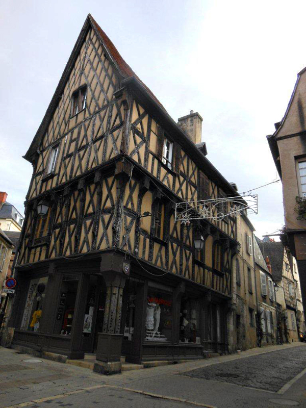 A typical half-timbered house in Bourges © 2014 Scotiana