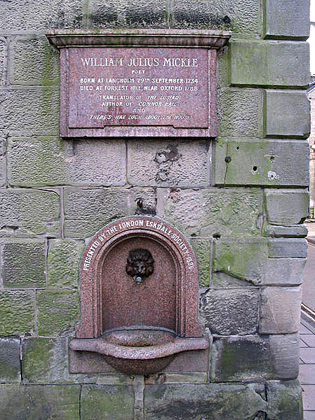 Fountain in memory of William Julius Mickle Langholm Dumfriesshire Wikimedia