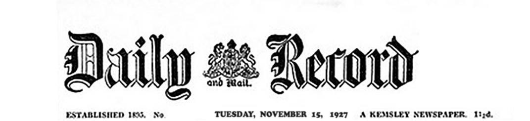 Daily Record logo 1927