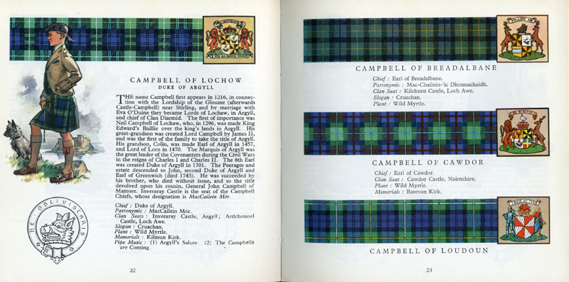Campbell page The Scottish Tartans