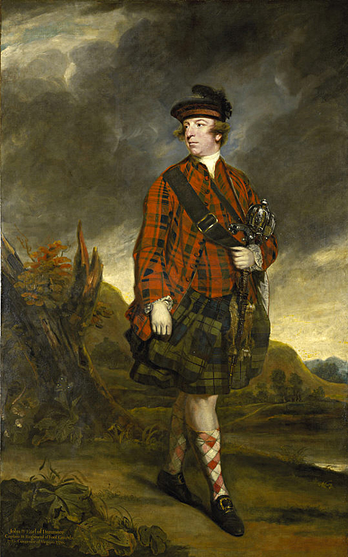 John Murray 4th Earl Of Dunmore Joshua Reynolds