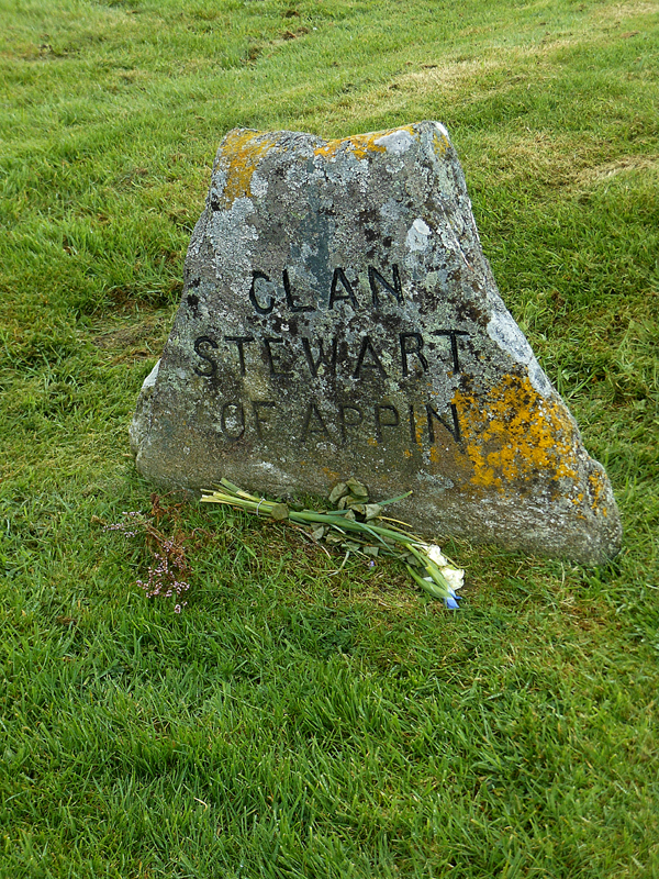 Culloden Clan Stewart of Appin stone © 2012 Scotiana
