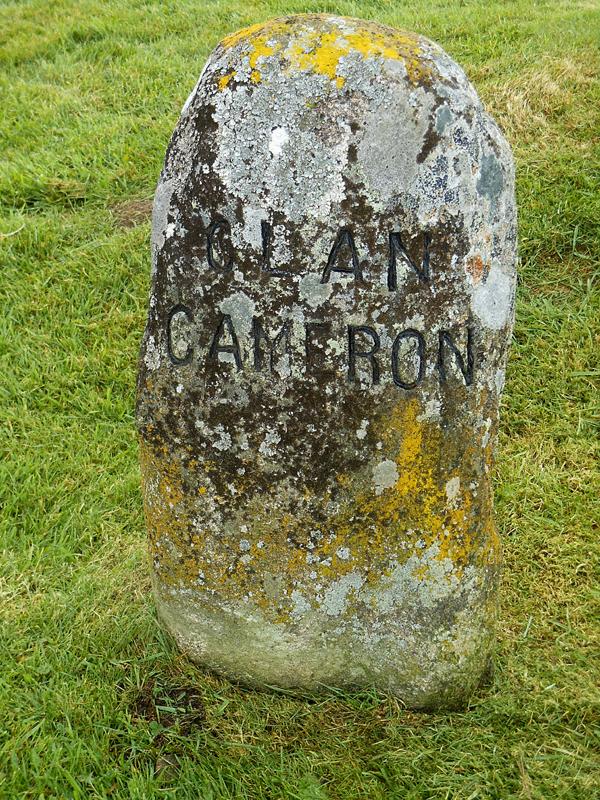 Culloden Moor Clan Cameron stone © 2006 Scotiana
