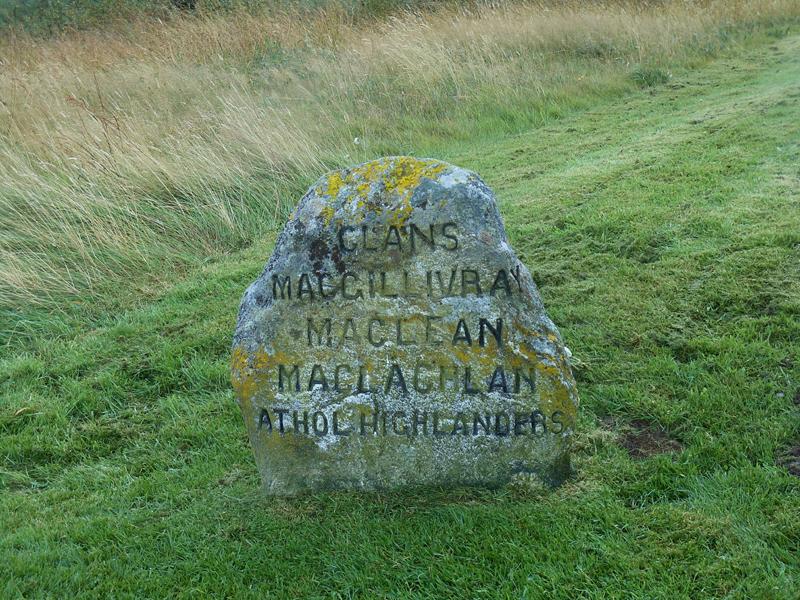 Culloden stone MacGillivray MacLean MacLachlan Athol Higlanders © 2012 Scotiana