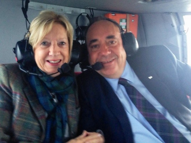Alex and Moira Salmond going home after the referendum
