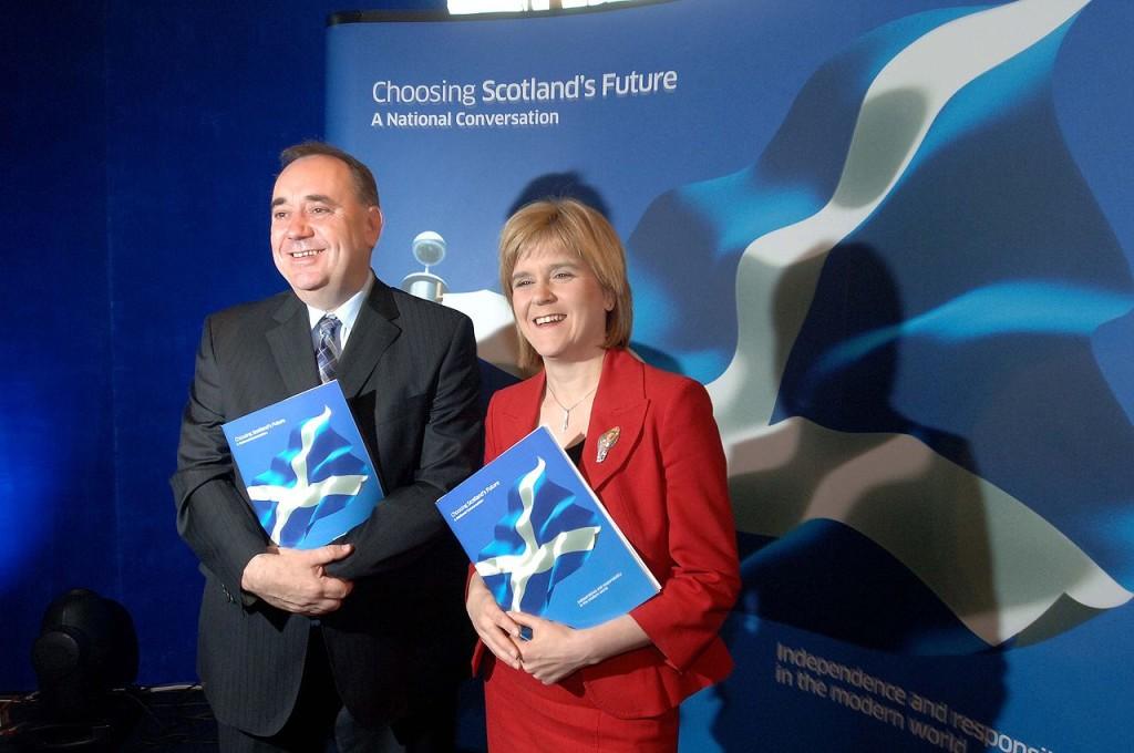 Salmond and Deputy PM Nicolas Sturgeon Source Wikipedia