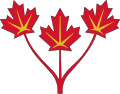 Three_maple_leaves_of_Canada