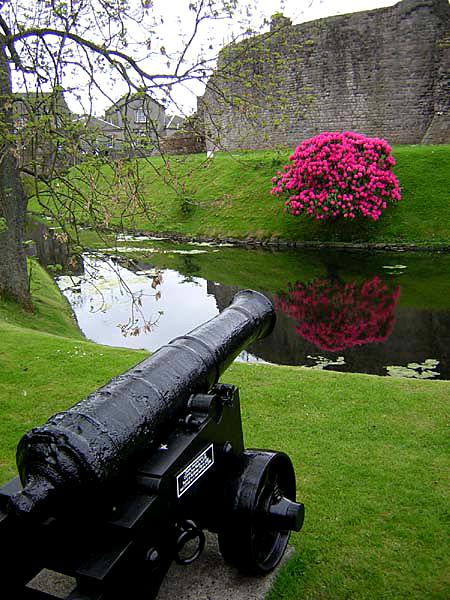 Bute Rothesay castle rhodos gun and rhodos © 2004 Scotiana