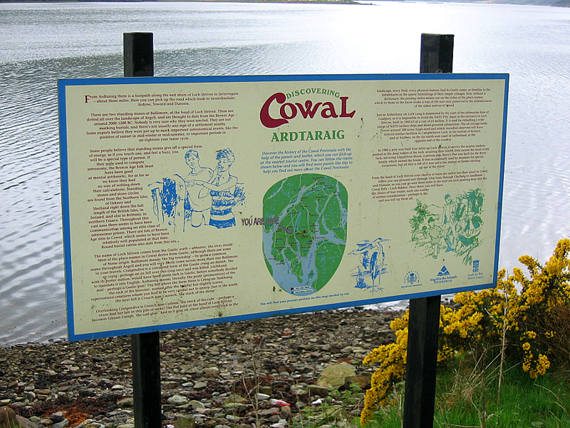 Cowal peninsula Ardtaraig panel JC  © 2004 Scotiana
