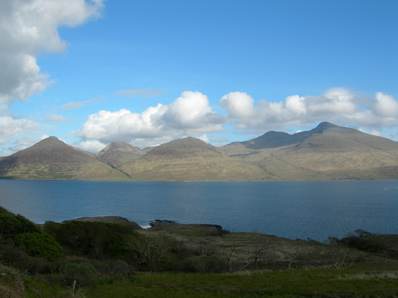 A view of Ben More across Loch na Keal from the B 8073 © 2006Scotiana