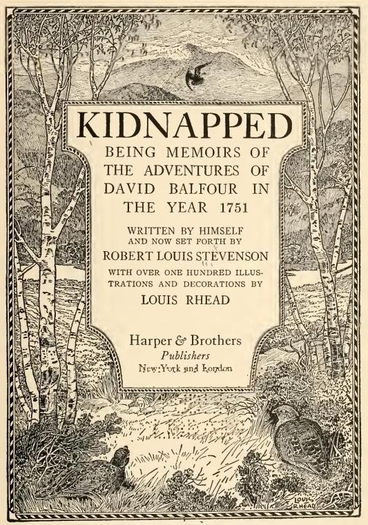 Robert Louis Stevenson Kidnapped Louis Rhead  illustration Harper & Brothers Publishers