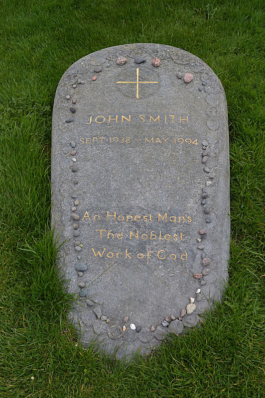 John Smith's gravestone in Reilig Odhrain churchyard Wikipedia