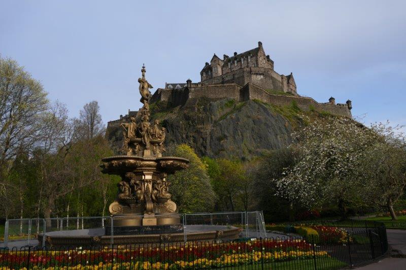 Edinburgh Ross Fountain Castle