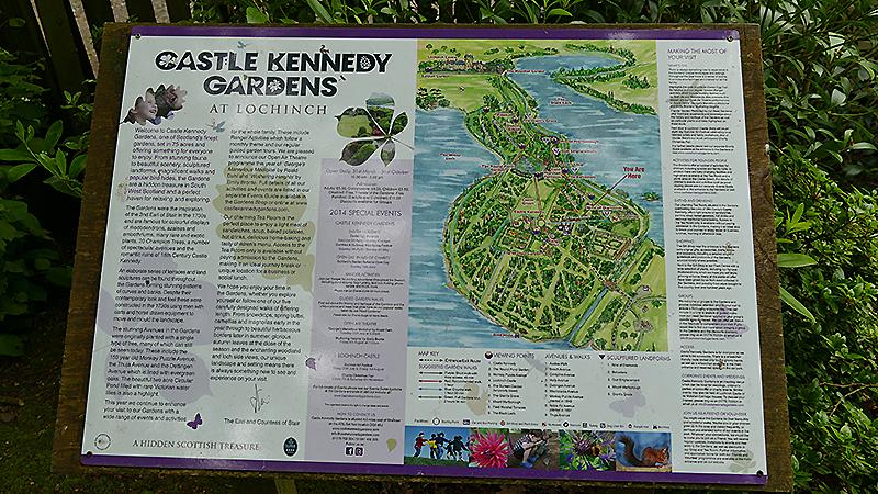 Castle Kennedy Gardens map © 2015 Scotiana