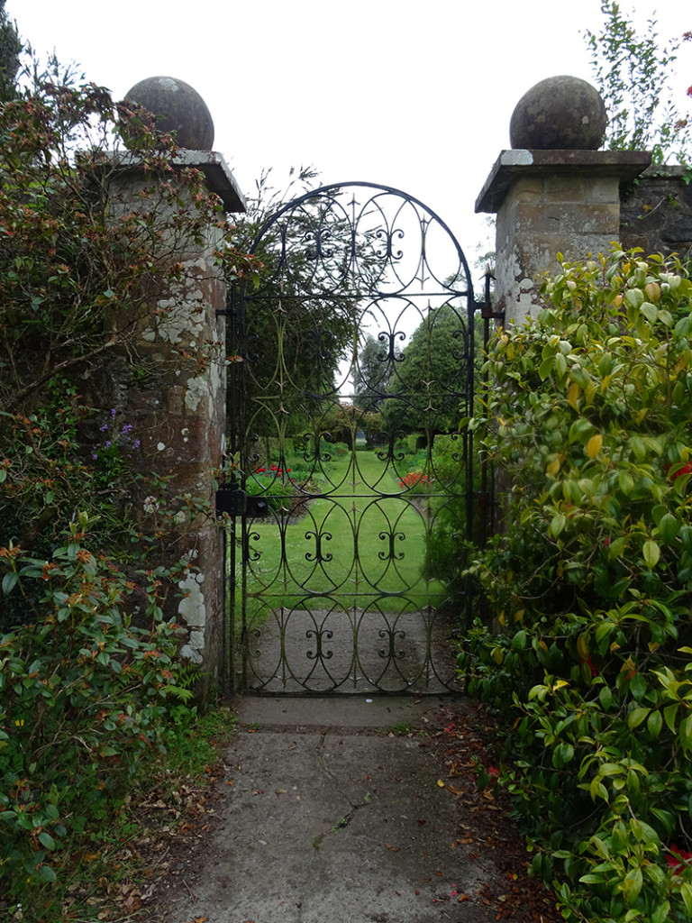 Castle Kennedy Walled Garden gate © 2015 Scotiana