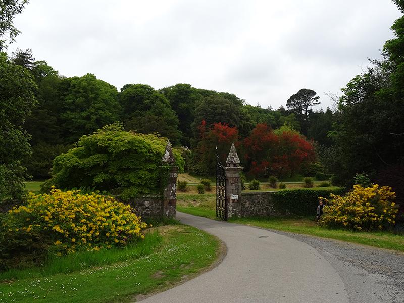 Kennedy Castle Gardens entrance gates © 2015 Scotiana