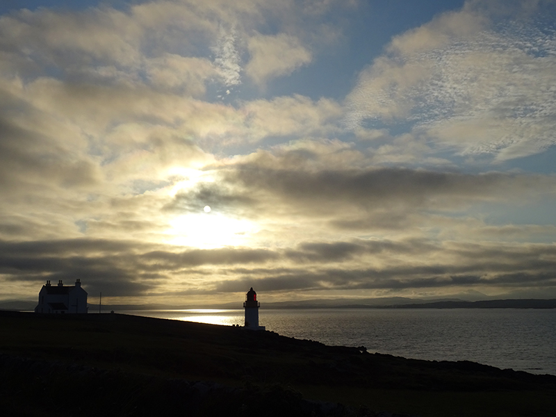 Sunset on the ocean in Port Charlotte Islay© 2015 Scotiana0